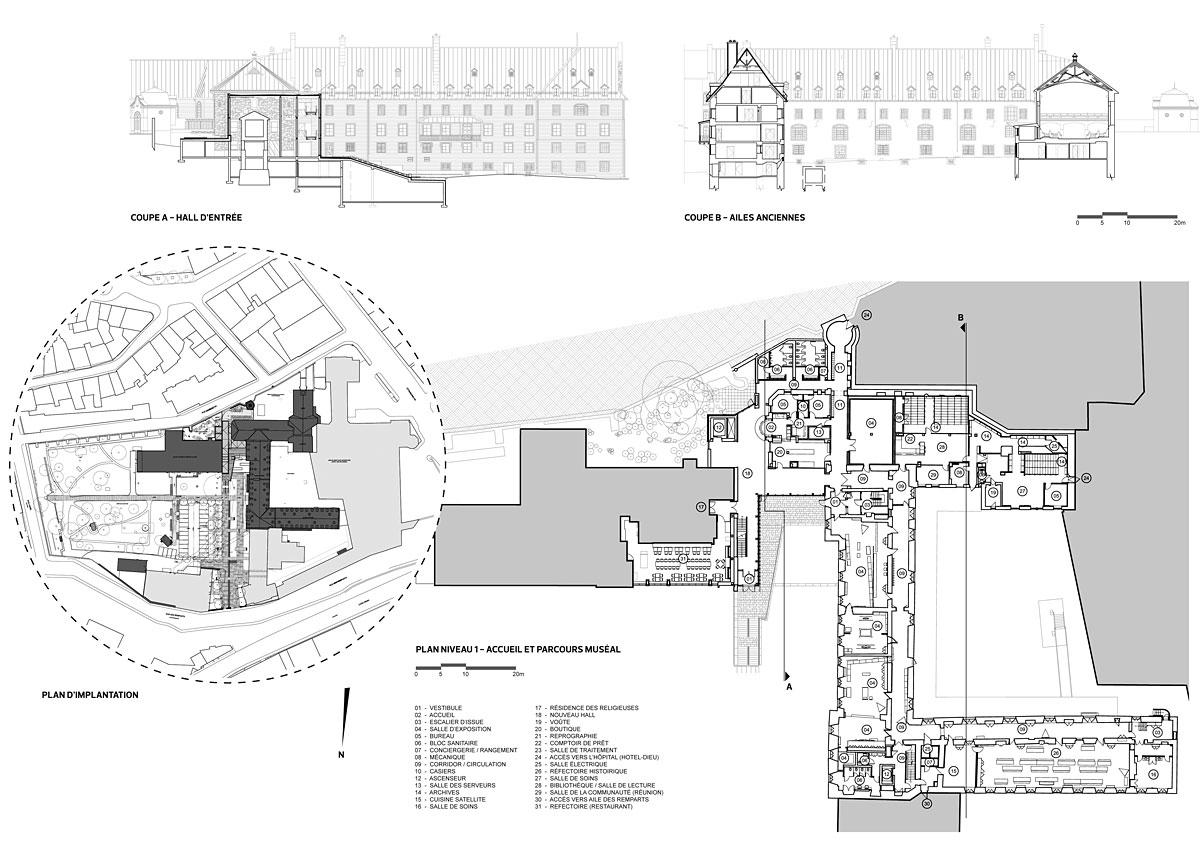 Le monast re des augustines projets verts for Architecte quebecois contemporain